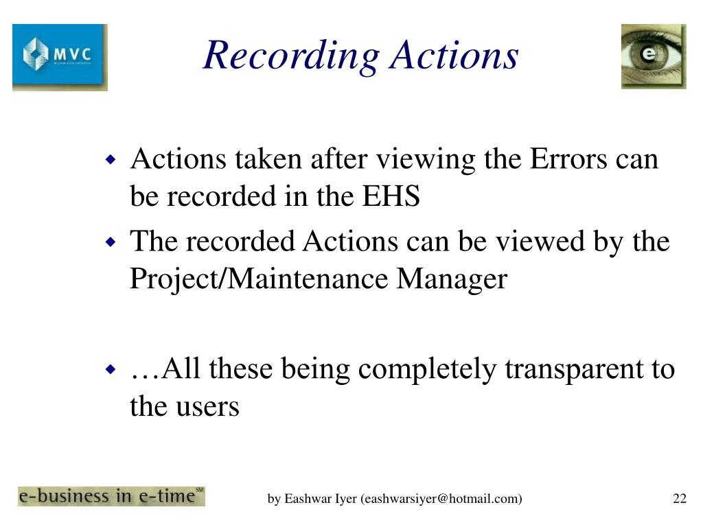 Recording Actions