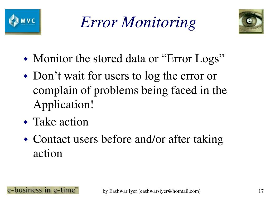 Error Monitoring