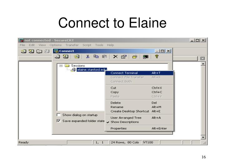 Connect to Elaine