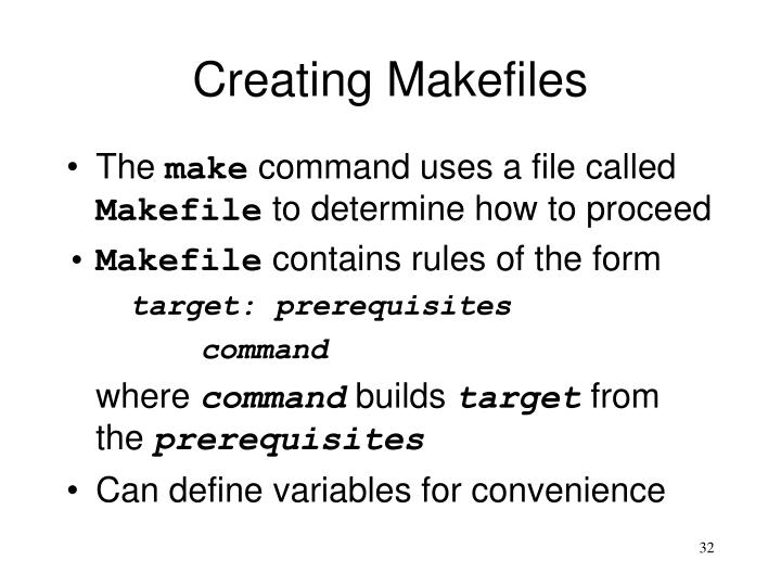 Creating Makefiles