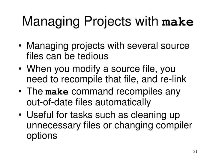 Managing Projects with