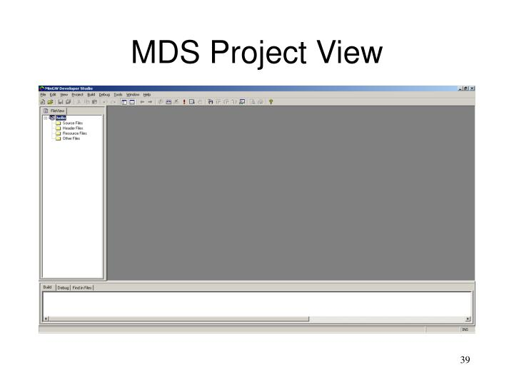 MDS Project View