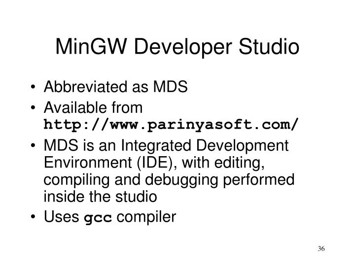 MinGW Developer Studio