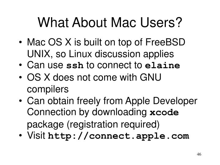 What About Mac Users?