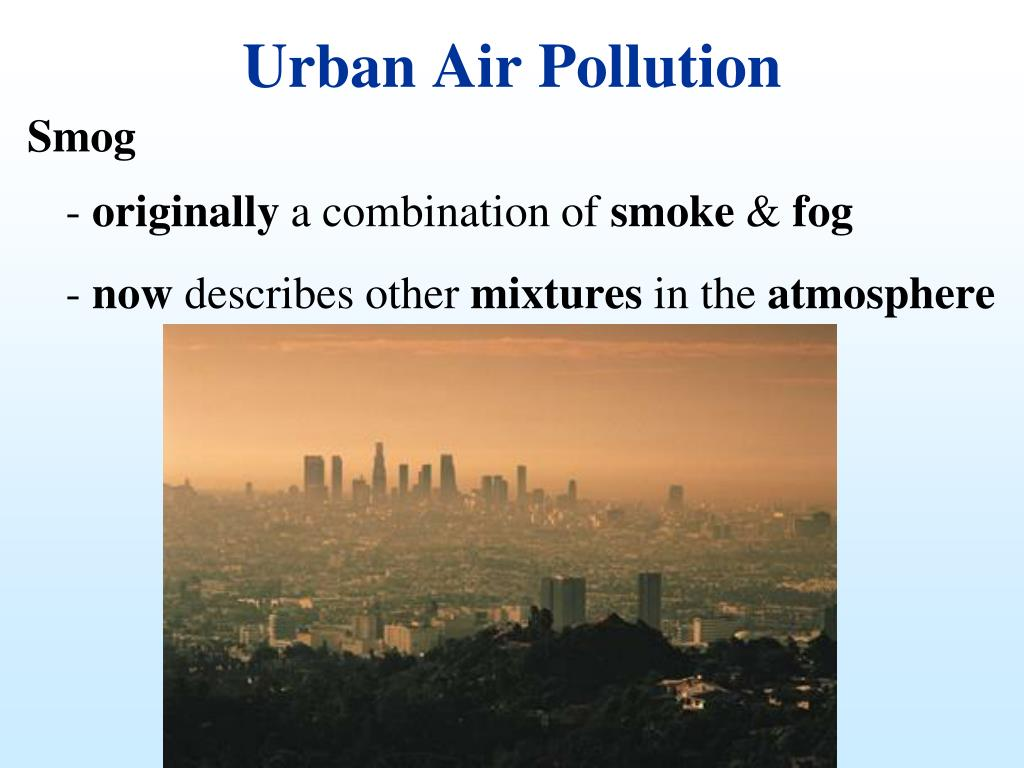 Urban Air Pollution