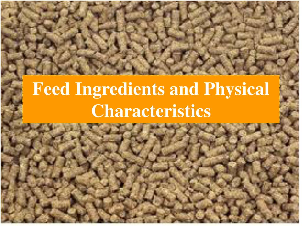 feed ingredients and physical characteristics l.
