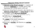 character string literal constant
