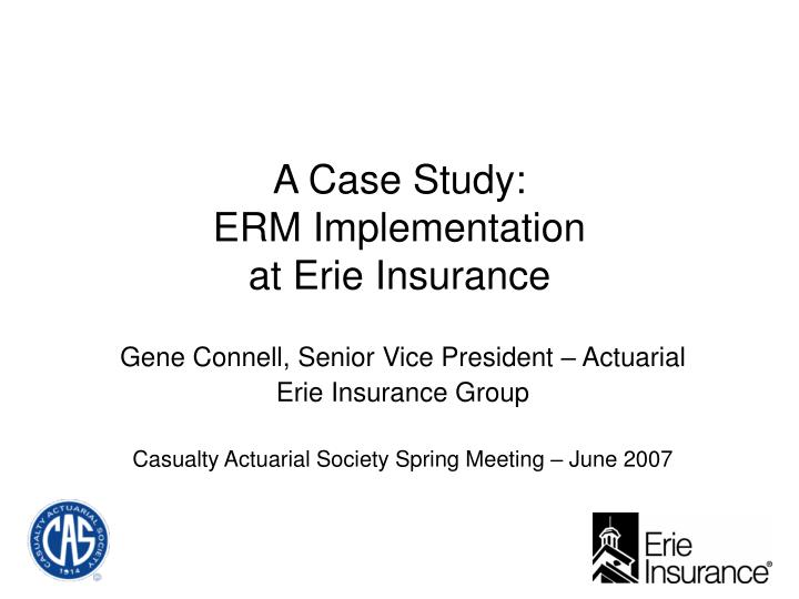 """enterprise risk management case studies The enterprise in enterprise risk management a case study cas special interest seminar understanding the enterprise risk management process case study - abc corporation based on composite and rescaled individual data, industry information, recent press releases and some pure """"guestimates"""" quantify risks individually and aggregate measure """"untreated"""" earnings impact quantify the impact."""