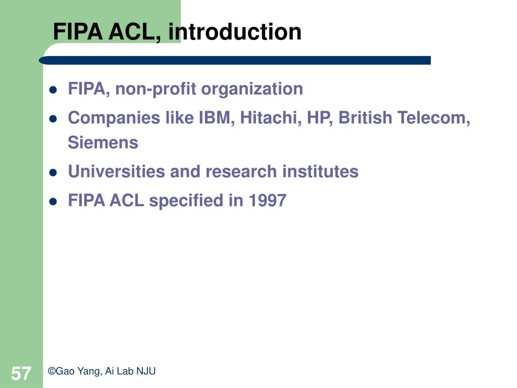 FIPA ACL, introduction