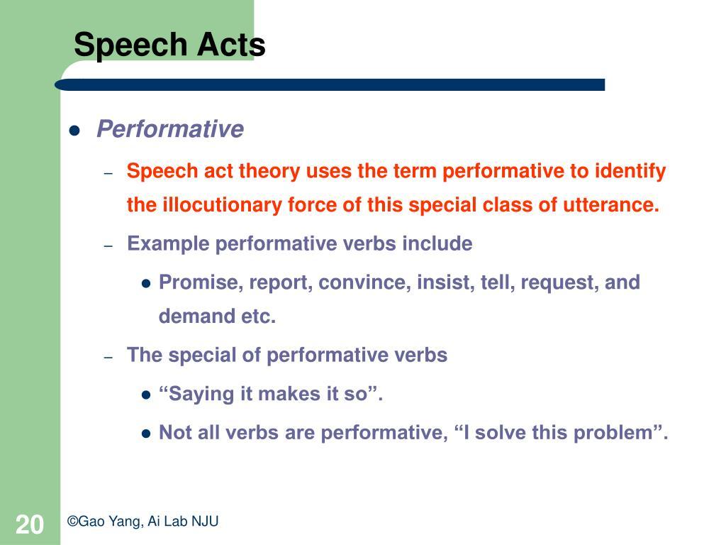 Speech Acts