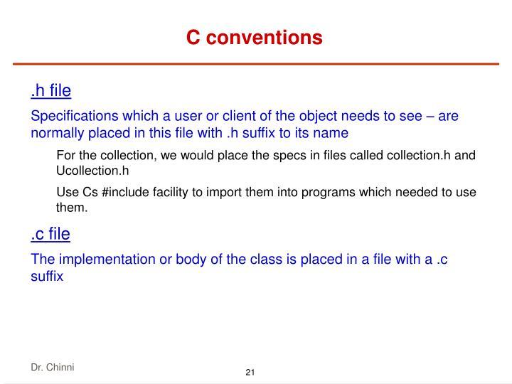 C conventions