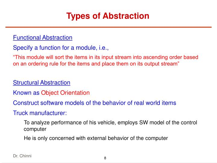 Types of Abstraction