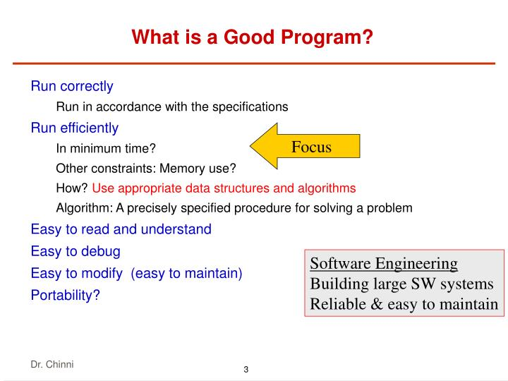 What is a good program