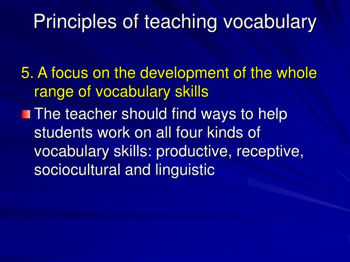 teaching vocabulary master thesis Teaching assistant  term/semester  thesis  education requirements for teaching esl classes master of arts in esl education vocabulary list related study.