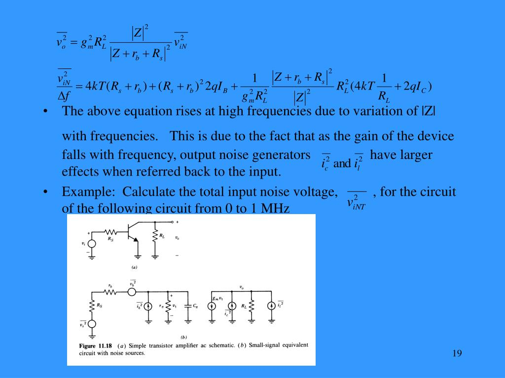 The above equation rises at high frequencies due to variation of |Z| with frequencies.