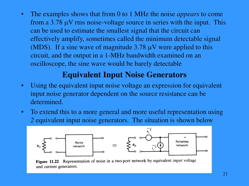 The examples shows that from 0 to 1 MHz the noise