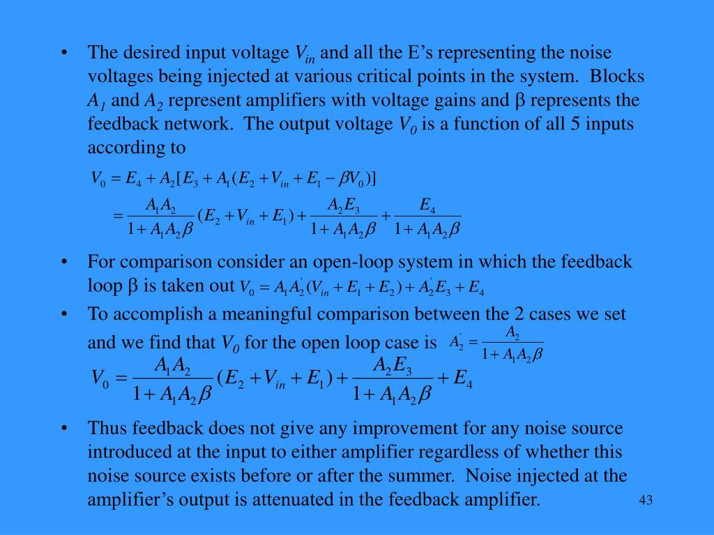 The desired input voltage