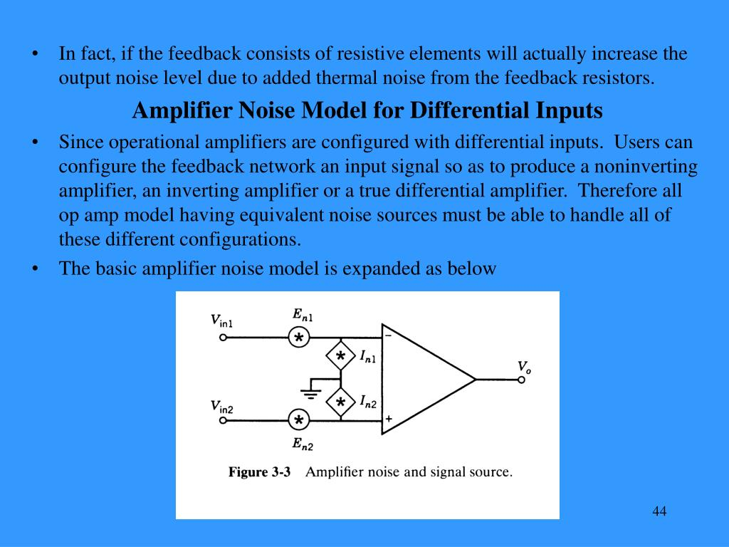 In fact, if the feedback consists of resistive elements will actually increase the output noise level due to added thermal noise from the feedback resistors.