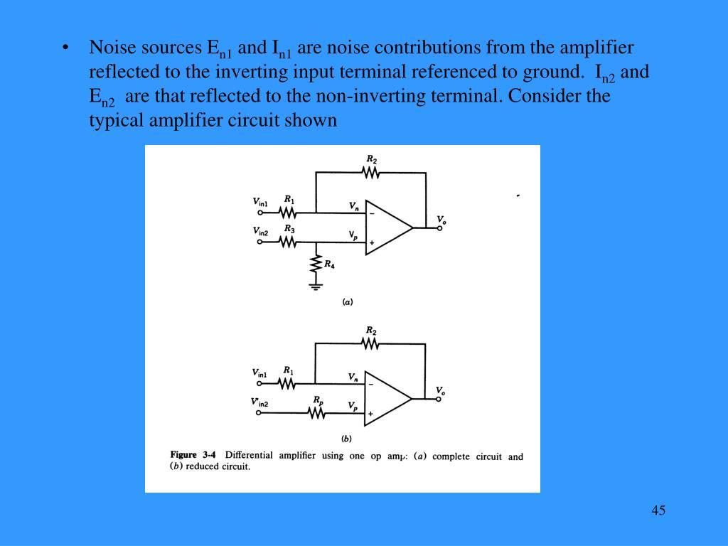 Noise sources E