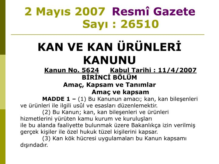 2 may s 2007 resm gazete say 26510