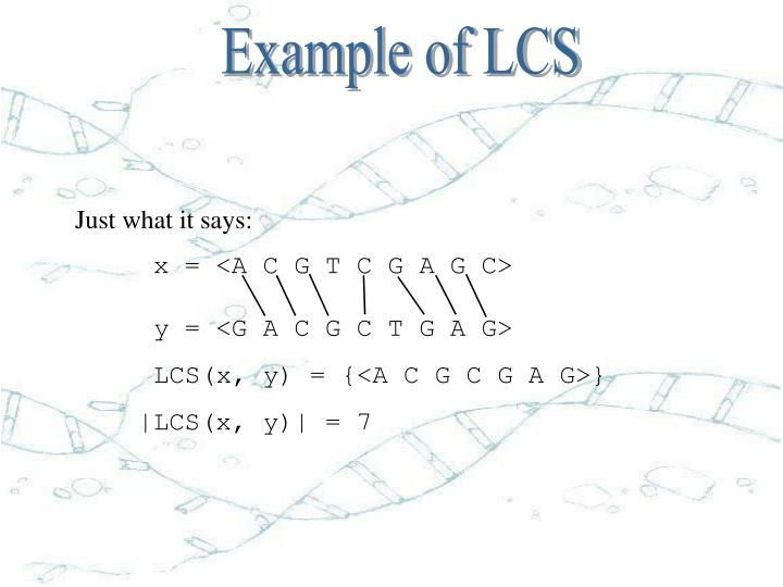 Example of LCS