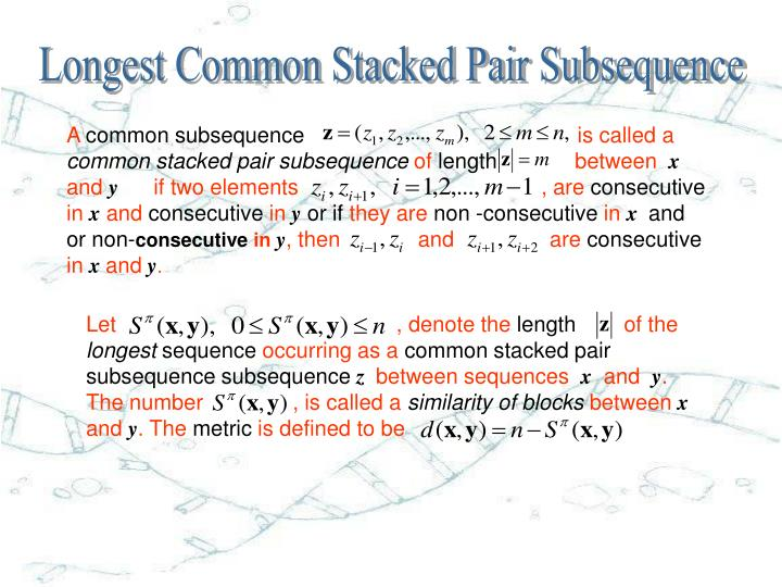 Longest Common Stacked Pair Subsequence