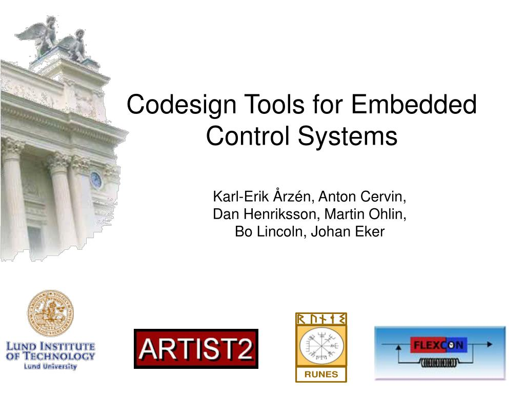 codesign tools for embedded control systems l.