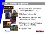 asd market segments