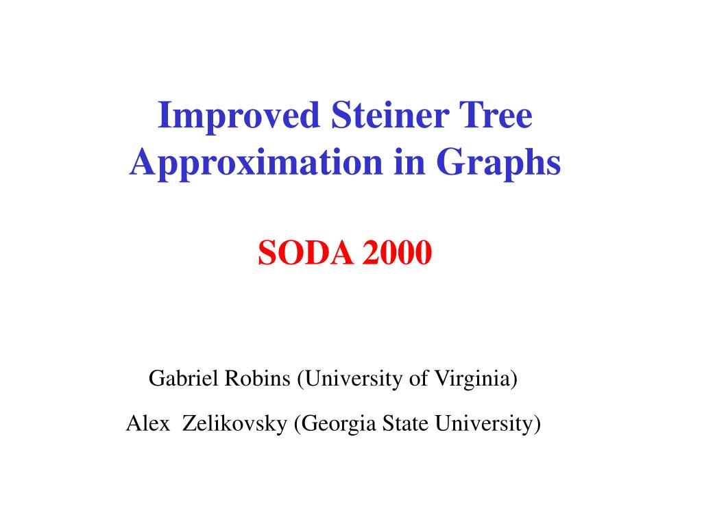 Improved Steiner Tree Approximation in Graphs