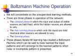 boltzmann machine operation
