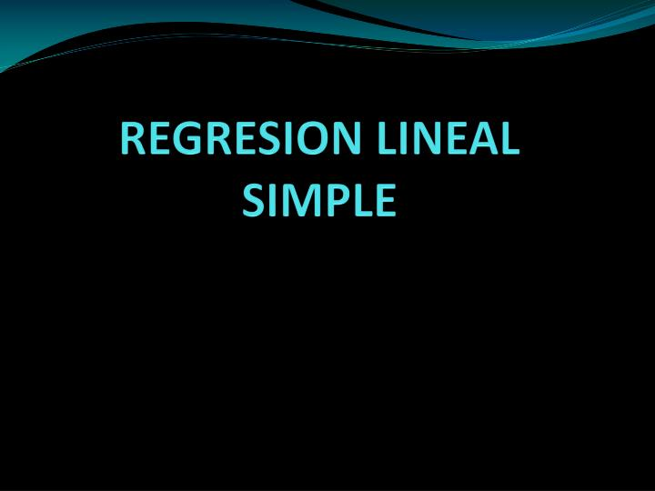 regresion lineal simple n.