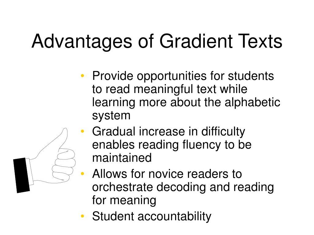 Advantages of Gradient Texts