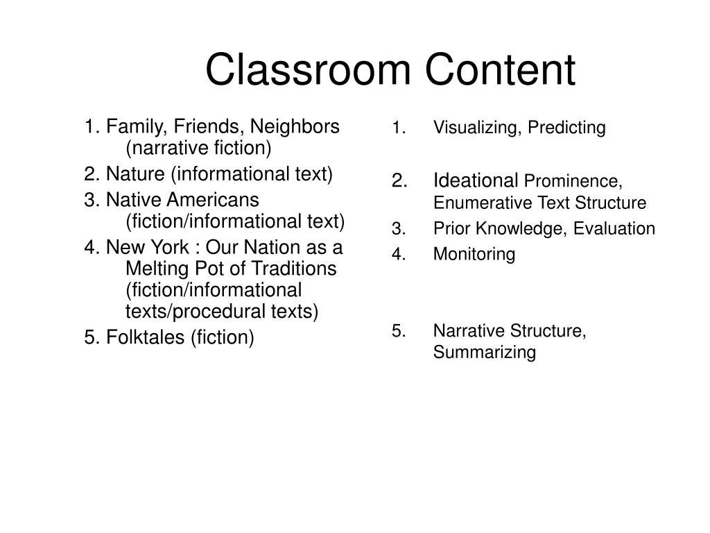 1. Family, Friends, Neighbors (narrative fiction)