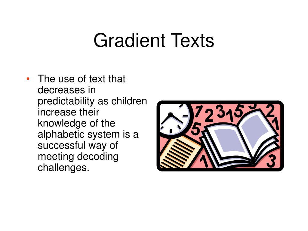 Gradient Texts