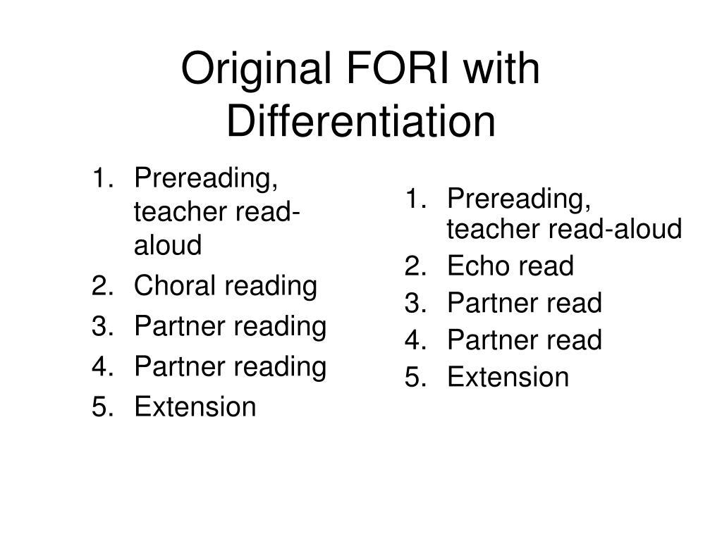 Prereading, teacher read-aloud