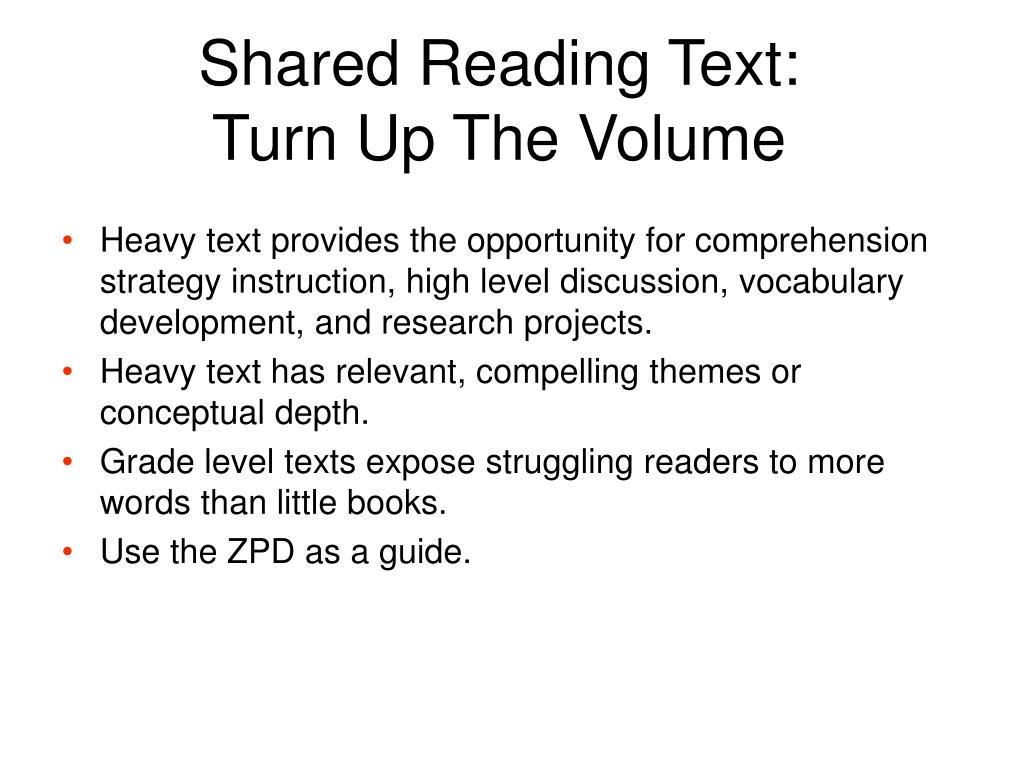 Shared Reading Text:
