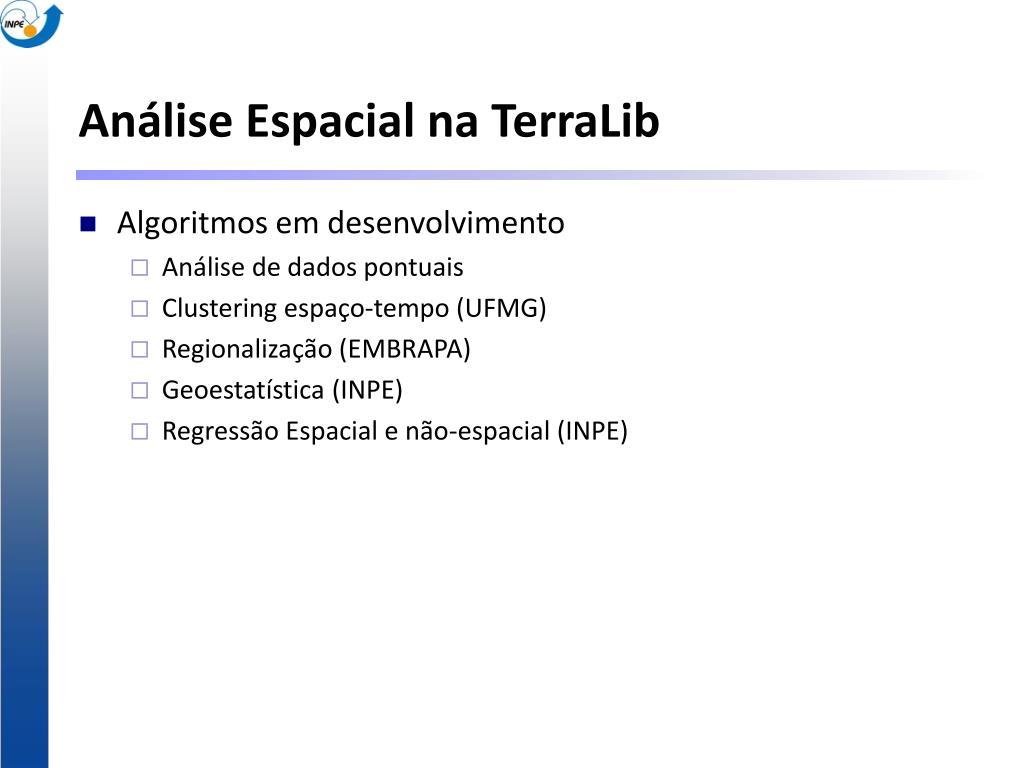 Análise Espacial na TerraLib