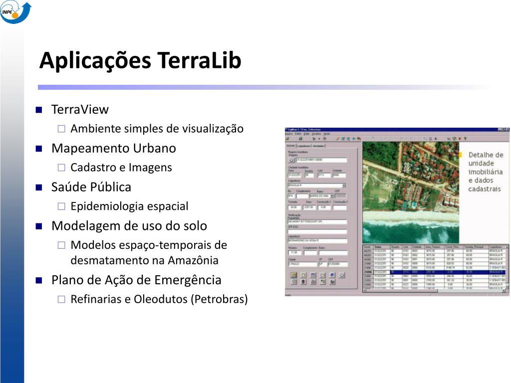 Aplicações TerraLib