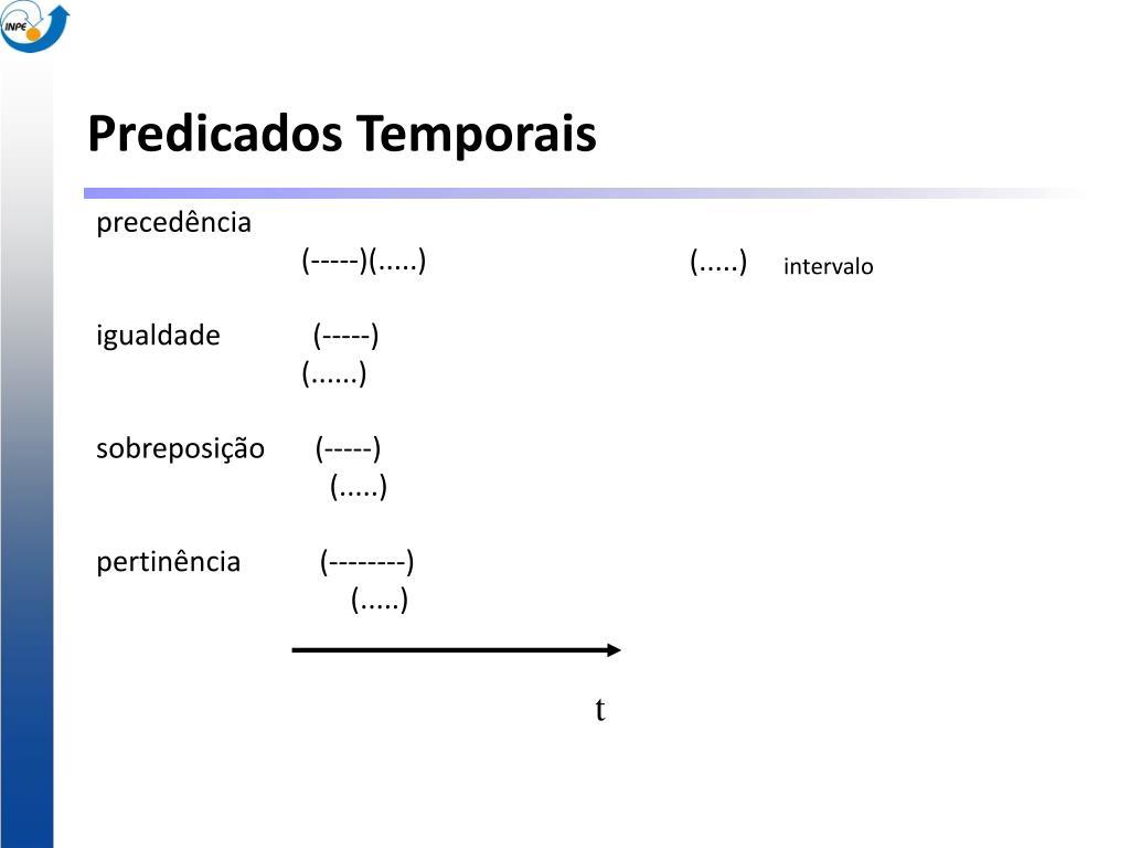 Predicados Temporais