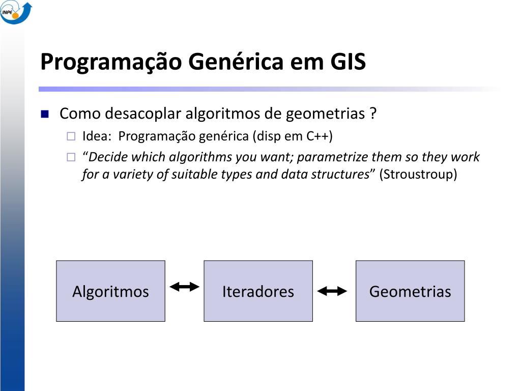 Programação Genérica em GIS