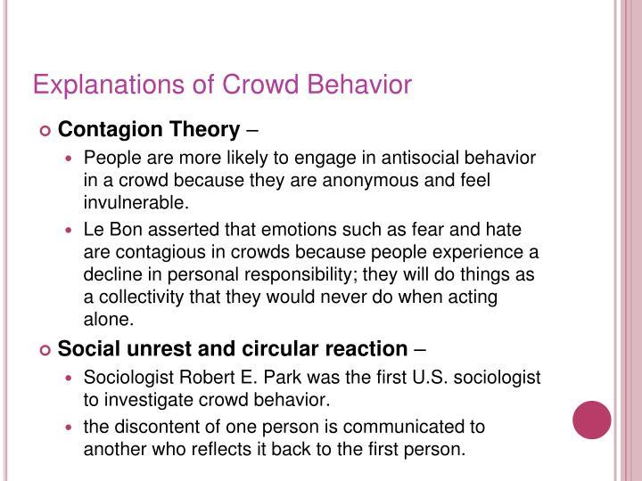 Explanations of Crowd Behavior