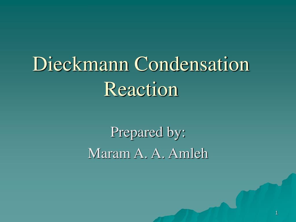 Dieckmann Condensation Reaction