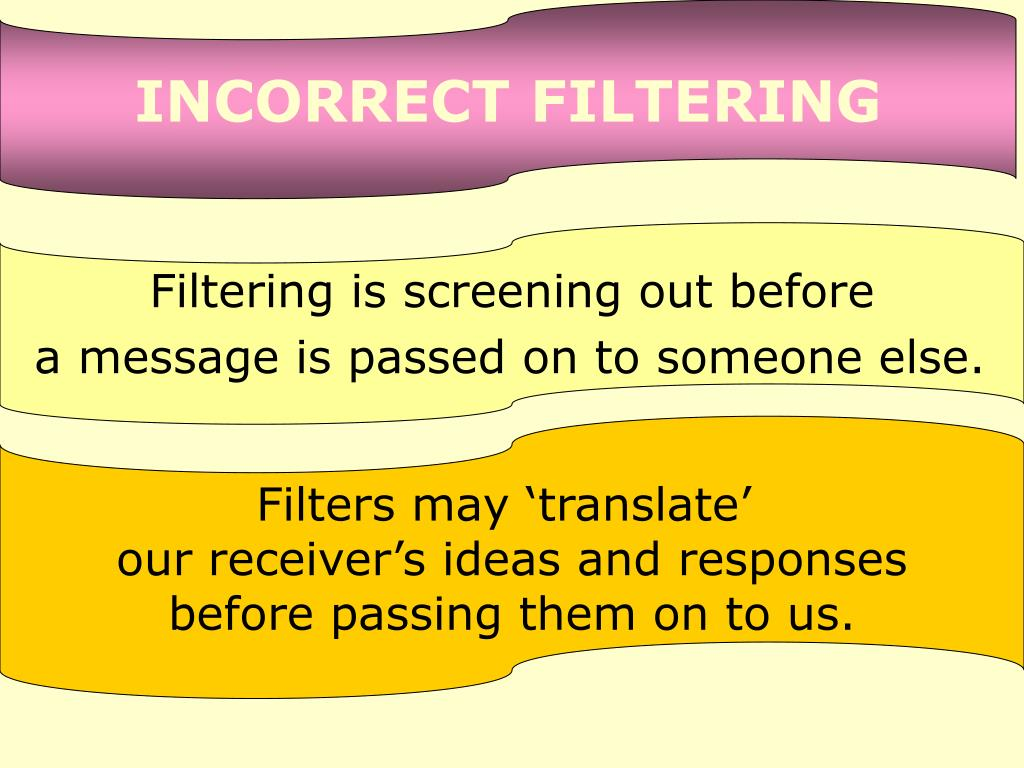 INCORRECT FILTERING
