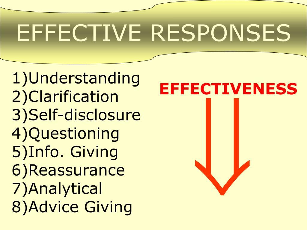 EFFECTIVE RESPONSES