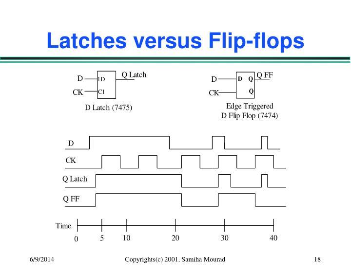 Latches versus Flip-flops