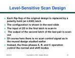 level sensitive scan design