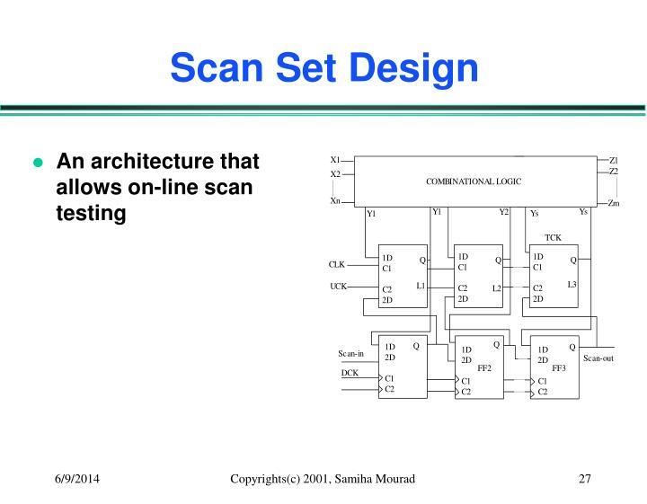 Scan Set Design