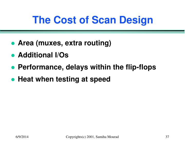 The Cost of Scan Design