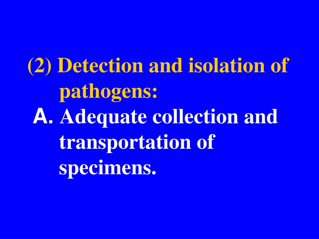 (2) Detection and isolation of