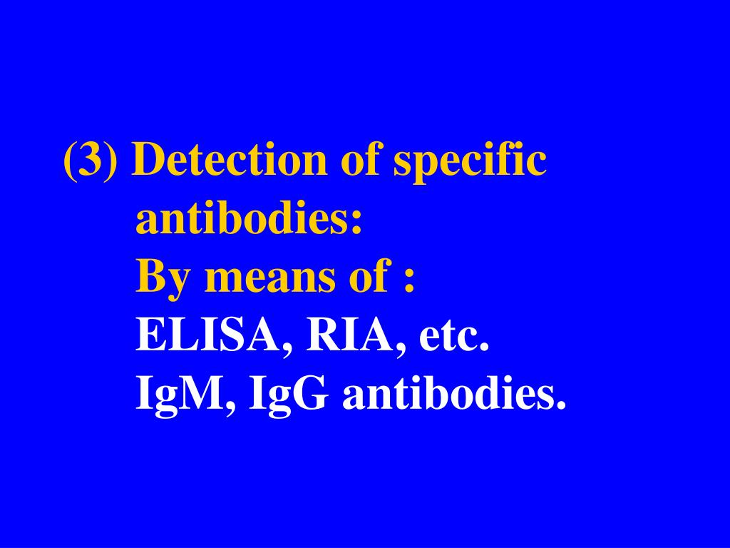 (3) Detection of specific